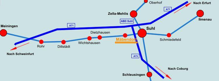 Suhl Mäbendorf anfahrt handel und tanken in suhl mäbendorf